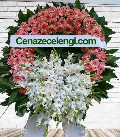 Cenaze Çelengi Pembe Beyaz Levet