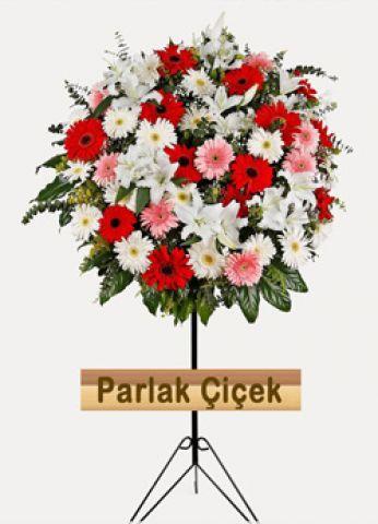 İstoç Çiçekçi Ferforje Kırmızı Beyaz Çiçek