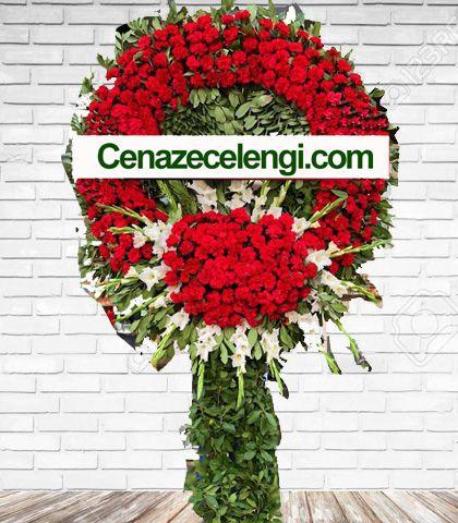 Cenaze Çelengi Kırmızı Beyaz Zincirlikuyu 2