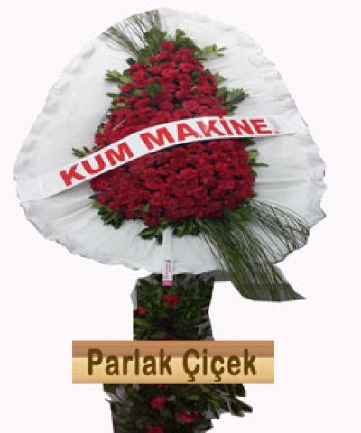 İstoç Çiçekçi Kırmızı Beyaz Ayaklı Sepet