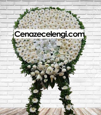 Cenaze Çelengi Beyaz Zincirlikuyu Lux