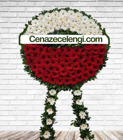 Cenaze Çelengi Kırmızı Beyaz Fatih