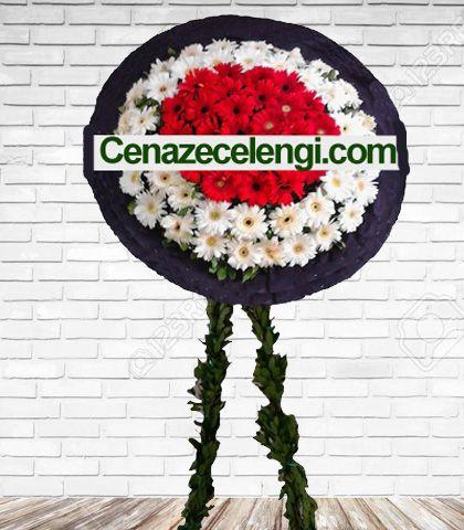 Cenaze Çelengi Beyaz Kırmızı Fatih