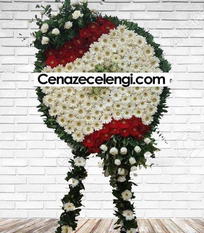Cenaze Çelengi Kırmızı Beyaz Zincirlikuyu Lux