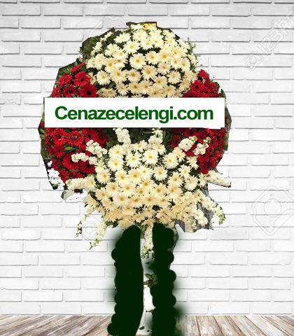 Cenaze Çelengi Kırmızı Beyaz İstanbul