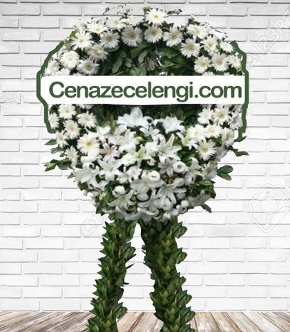 Cenaze Çelengi Beyaz İstanbul