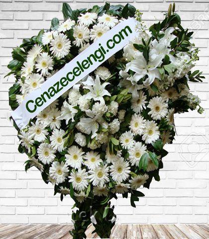 Cenaze Çelengi Beyaz Levent 3