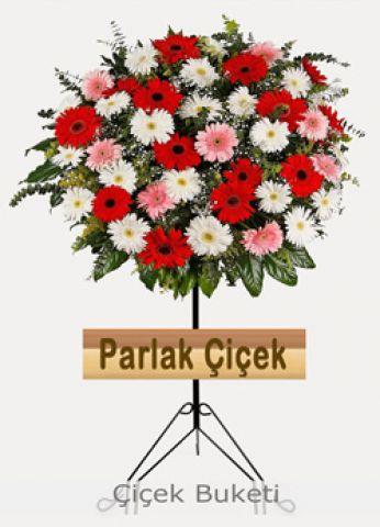 İstoç Çiçekçi Ferforje Kırmızı Beyaz Arajman