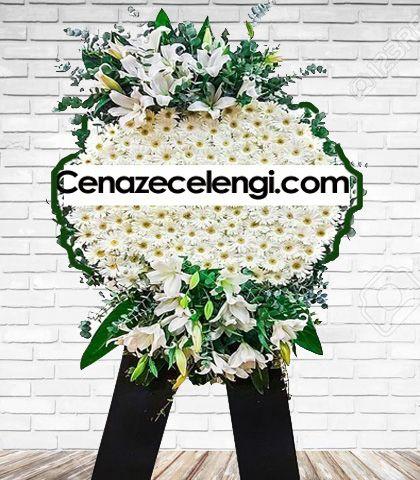 Cenaze Çelengi Beyaz Zincirlikuyu